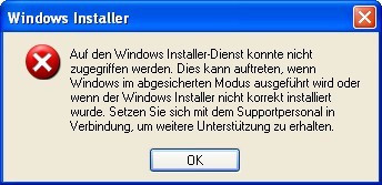 Windows Installer nicht korrekt installiert - (XP, wiederherstellen, windows installer)