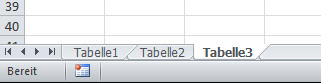 Sheet bzw.Tabelle - (Microsoft, Excel, Formatieren)