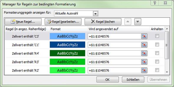 Regeln kopieren - (Microsoft, Excel, Formatieren)