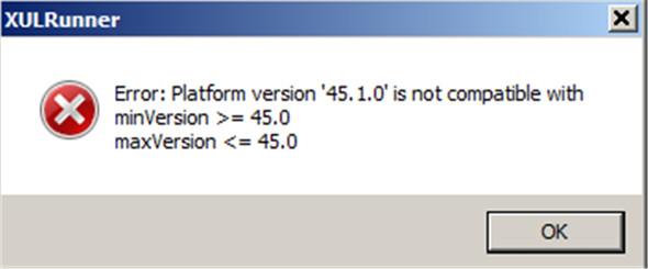 Thunderbird-Fehleranzeige - (Windows 7, Thunderbird, Updatefehler)