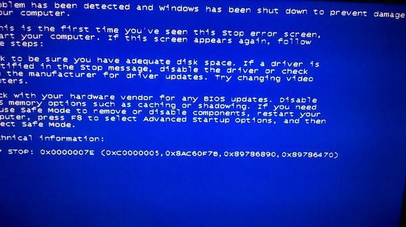 Das ist er.. Danke für die hilfe! - (Windows 7, Bluescreen)