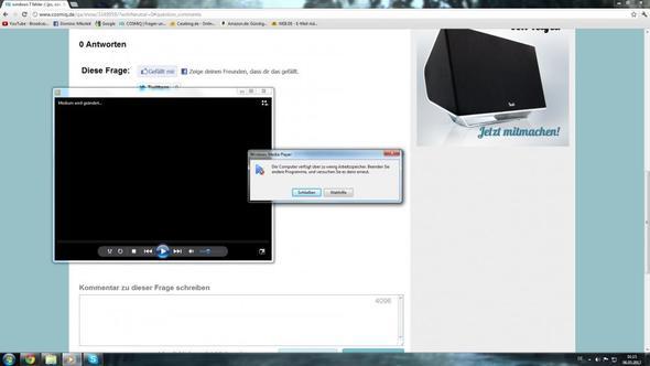 Die Fehlermeldung :/ - (Computer, PC, Windows 7)