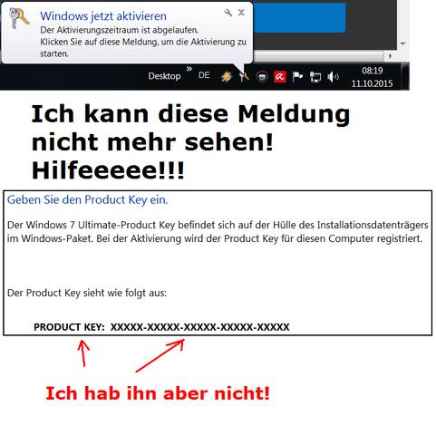 Kein Key-Code buhuhuhuhu! - (Windows 7, Product Key)