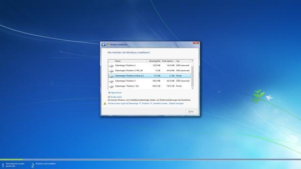 Wie ihr seht kann ich meine Partitionen nicht formatieren und auch nicht windwos - (Windows 7, windwos 8)
