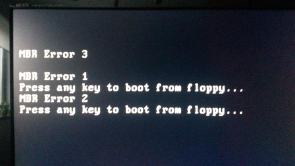 Diesen Fehler erhalte ich, nachdem der PC startet. - (Windows, windows 8.1, MBR)