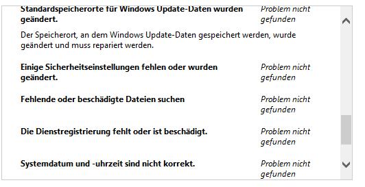 - (Updateinstaller beschädugt, Datenbank beschädigt)