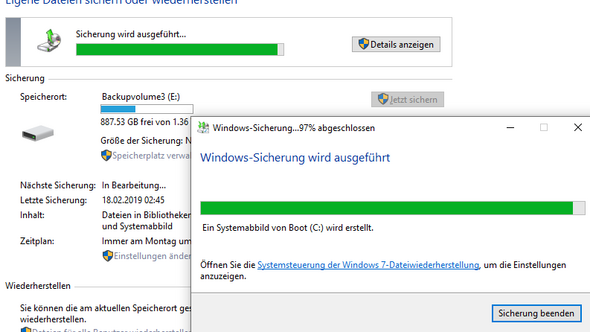- (Windows 10, Windows-Sicherung)