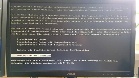 Windows XP startet nicht und RAM Problem?