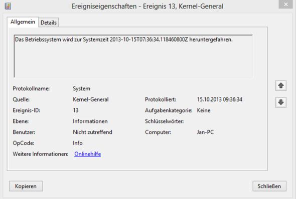 Fehlermeldun - (Windows, Fehlermeldung)