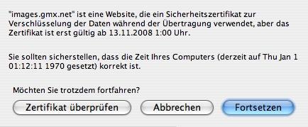 Sicherheitszertifikat - (Internet, Browser, Fehlermeldung)
