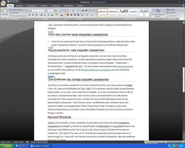 bild bsp - (Windows XP, Löschen, Word 2007)
